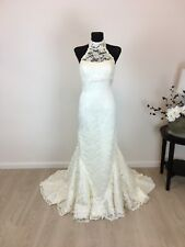 Mermaid Trompete La Sposa Brautkleid Hochzeitskleid Gr. 34/36 Creme