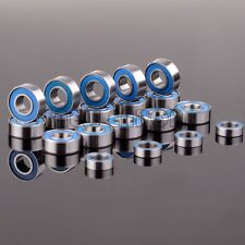 19PCS Bearing RC Traxxas SLASH 2WD STAMPEDE BANDIT KIT Metric Blue Rubber Sealed