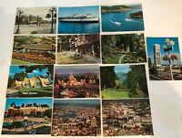 Vintage City Of Victoria BC Postcards A Lot Of 13 Old Rare And Collectable!!
