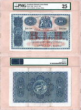1955 £20 British Linen Bank issued note PMG Certified VF25 condition