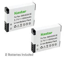 2x Kastar Battery for Panasonic Lumix DMW-BCM13 DMC-TZ40 DMC-TZ41 DMC-TZ55 TZ60