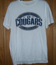 Gently Used BRIGHAM YOUNG UNIVERSITY COUGARS T Shirt Size LARGE L WHITE