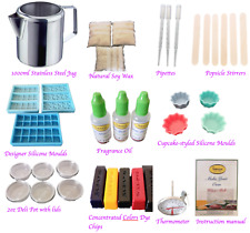 Best Wax Melt Kit Make your Own Wax Melt At Home Silicone Moulds Thermometer Jug