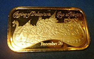 Crossing the Delaware 480 Grains(1.09714 OZ)Fine Silver 999 Art Bar