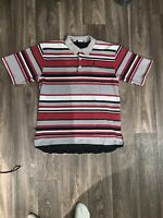 Nike Air Jordan Jumpman Embroidered Striped Bold Colors Polo Shirt XL RARE