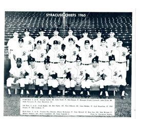 1965 SYRACUSE CHIEFS 8x10 TEAM PHOTO NEW YORK YANKEES BASEBALL USA