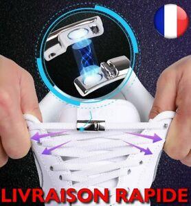 Lacets Chaussures Magnétiques Elastiques Aimant Baskets Enfants Adulte Rapide