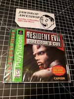 NEW PS1 RE1 RESIDENT EVIL 1 DIRECTORS CUT SEALED PLAYSTATION MINOR WEAR ONLY
