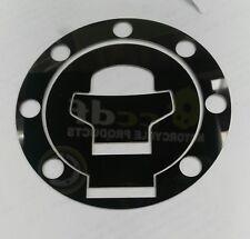 SUZUKI BLACK MIRROR POLISH STAINLESS PETROL FUEL CAP COVER GSX14 BANDIT GSXR P06