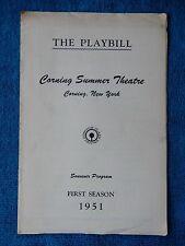 Happy Birthday - Corning Theatre Playbill - Julne 1951 - Joan Blondell - Lynde