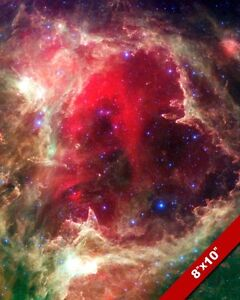 AMAZING DEEP SPACE TELESCOPE INFRARED PHOTO W5 CASSIOPEIA ART REAL CANVAS PRINT