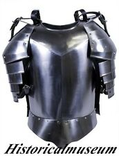 MEDIEVAL BREAST PLATE ARMOR W/SHOULDERS FLUTE ARMOR BREAST SUIT SHBH ARMOR LARP