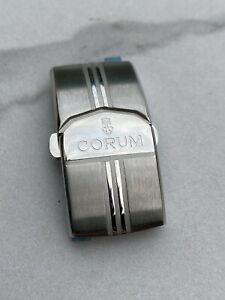 Corum Bubble Stainless Steel Watch Deployment Buckle Butterfly Clasp 18mm Strap