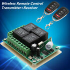 12V 4CH Channel Relay Wireless RF Remote Control Switch 2 Transmitter+Receiver