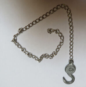 """11"""" Replacement chain and hook for vintage Marx tow truck"""