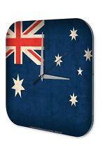 Wall Clock Globetrotter  Australia flag Printed Acryl Acrylglass