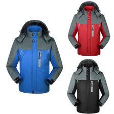 Men Hooded Waterproof Jackets Snow Rain jacket Coat Hiking Trekking Ski Outwear