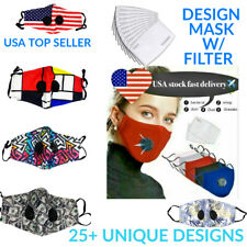 Face Mask With Filters Washable Reusable With Designs