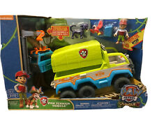 Paw Patrol Jungle Rescue Paw Terrain Vehicle Working Crane w/ Figures Kids NEW