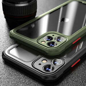 Shockproof Clear Case for iPhone 12 11 Pro Max Mini XR X XS 7 8 PLUS SE Bumper