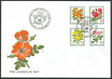 Flowers Swiss Stamps