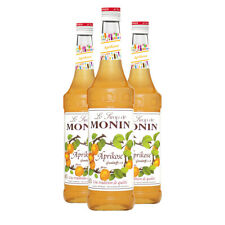 Monin Sirup Aprikose, 0,7L, 3er Pack