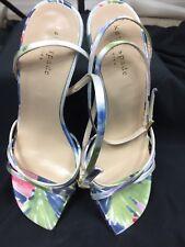 kate spade Multy Color Ankle Strap Floral Wedge Heels