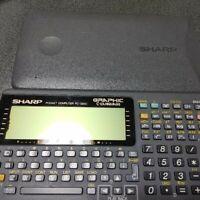 SHARP PC-G850 GRAPHIC C-LANGUAGE Pocket computer Function Calculator Tested