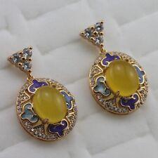 Fabulous Nice Yellow Topaz Fashion Jewelry Gift Gold Filled Stud Earrings er999