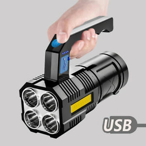 USB Rechargeable 135000LM LED Searchlight Spotlight Hand Torch Work Light Lamp