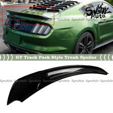 FITS 2015-2021 FORD MUSTANG GLOSSY BLACK TRACK PACK GT STYLE TRUNK SPOILER WING
