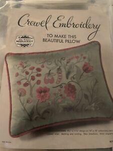 Vintage Elsa Williams Crewel pillow Saybrook sampler kit KC395