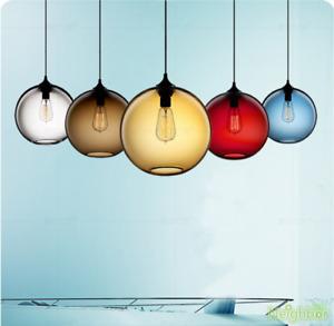 Multicolor glass pendant lamp Led Ceiling lights chandelier restaurant Lighting