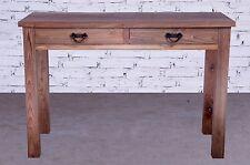 Tisch Wandtisch Beistelltisch Konsolentisch Altholz massiv Teakholz 2 Schubladen