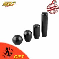 Car Round Gear Shift Knob Shifter Universal Carbon Fiber Lever Ball Shape Black
