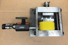 Enerpac RSM300 30 Ton 1/2 inch stroke Hydraulic Cylinder mounted in press