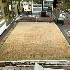 Oriental Hand knotted Tan Color Geometric 8x12 ft Carpet