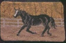 CLEARANCE...BLACK HORSE Needlepoint Wool Zippered Bag Pouch