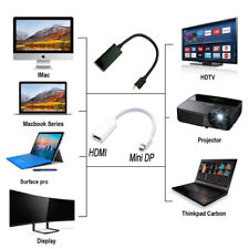 DisplayPort Mini DP to HDMI Female Cable Adapter Corde For PC HP/DELL HDTV 1080P