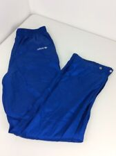 Vtg 80s Adidas Lined Blue 3 Stripe Basketball Soccer Track pants Trefoil Stitch