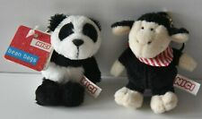 2 NICI bean  bags Schlüsselanhänger Panda und Schaf - wie neu