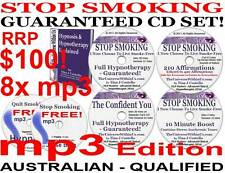 QUIT STOP SMOKING HYPNOTHERAPY SYSTEM FULL mp3 Edition of CD Pack HYPNOSIS on CD