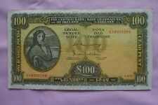 More details for central bank of ireland one £100 hundred pound banknote 01b070256 4.4.77 rough?