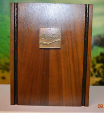 RARE Coca-Cola Soda Pop Coke plaque Executive Wood Bookend