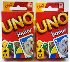 2x Uno Junior Mattel 52456 Kartenspiel Familienspiel, Gesellschaftsspiele