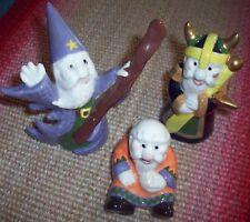 3 Handmade Ceramic Wizards