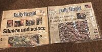 2  Front Covers - Daily Herald  IL, 9/15/01 & 9/23/01 - 9/11, George W. Bush