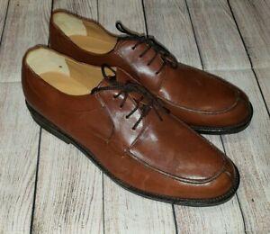 Eddie Bauer Mens Oxford Brown Leather Lace Up Dress Shoes Size 13M  EUC L@@K