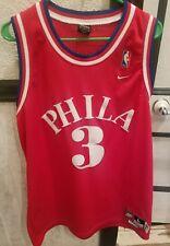 NBA Nike Rewind 1964 Philadelphia 76ers Allen Iverson Jersey Sewn Mens Large Red