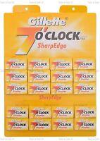 Gillette 7 O'Clock Afilado Cuchilla recta de Afeitar Doble Filo Hojas